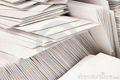 Stack of Blank Envelopes
