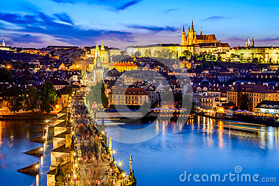Prague Castle and Charles Bridge, Czech Republic