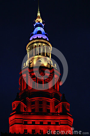Terminal Tower Skyscraper in Cleveland, Ohio