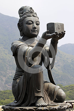 Female disciple statue at Big Buddha, Hong Kong