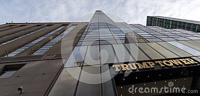 Trump Tower, imposing perspective from the ground