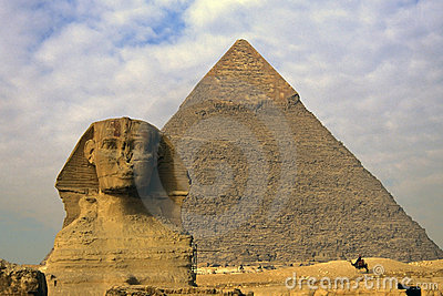Sphinx, Pyramid and Egyptian m