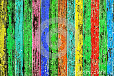 Colorful wooden tiles. Colored wood background. Shabby chic text