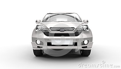 Silver SUV 4X4 - Front View