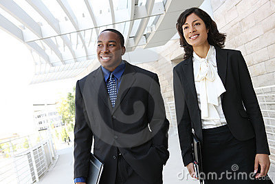 Attractive African American Business Team