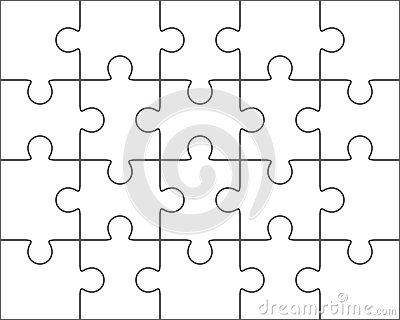 Puzzle Blank Template X Twenty Pieces