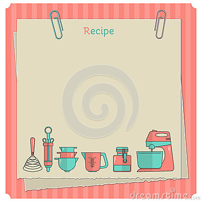 card. Kitchen note template