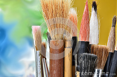 Artists paint brushes.