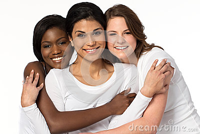 stock image of diverse group of women smiling