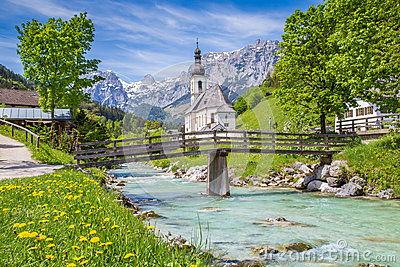 Church of Ramsau, Berchtesgadener Land, Bavaria, Germany