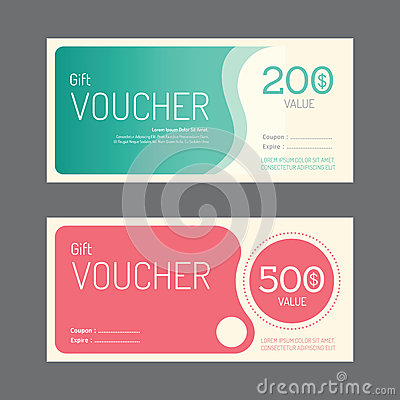 Vector gift voucher coupon template design. paper label frame