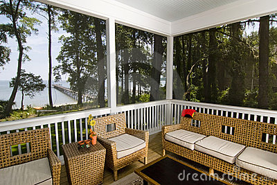 Porch with beach view