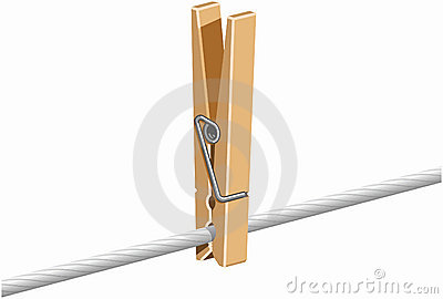 Clothespin on Line
