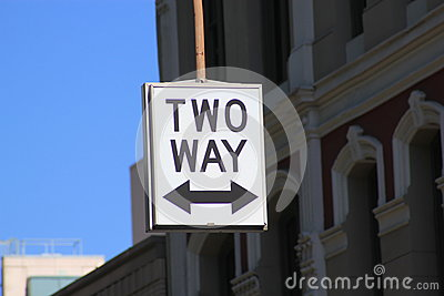 Street sign for Two Way traffic