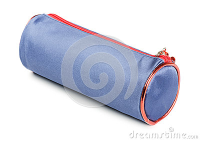 Blue pencil-case