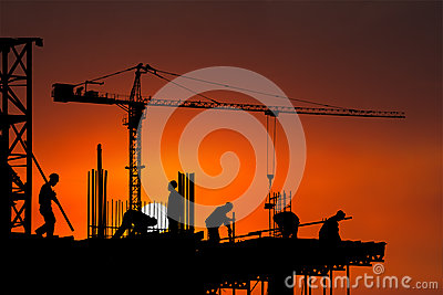 Construction Site, Worker, Workers, Background