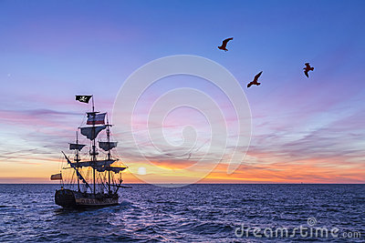 Antique Pirate Ship