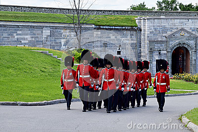 Changing of the Guard at The Citadelle, Quebec, Canada