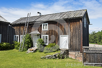 Old wooden dwelling house Halsingland