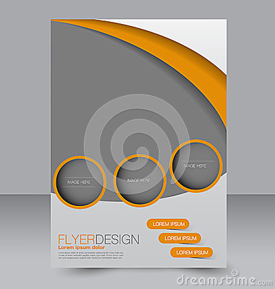 Flyer template. Brochure design.  A4 business cover.