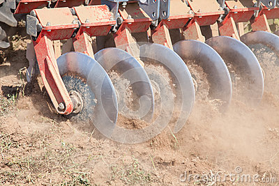 Disc harrow system, cultivate the soil
