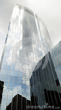 Tall glass building
