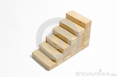 Wood block stair
