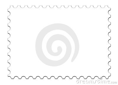 blank stamp template on white