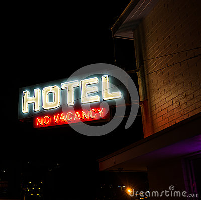 Hotel No Vacancy Neon Sign