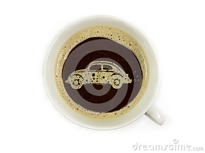 stock image of car dealer offers coffee