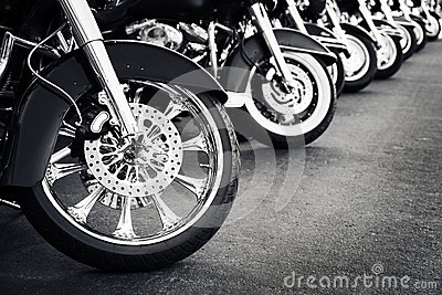 Motorcycles parking