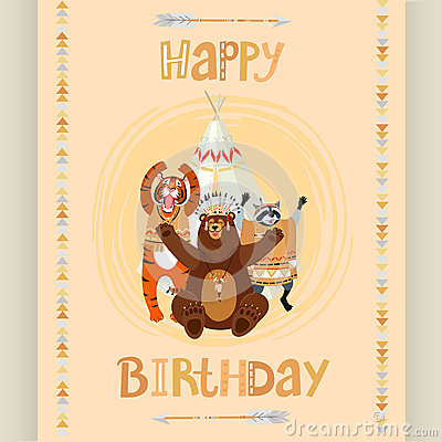 American Indian Birthday Card