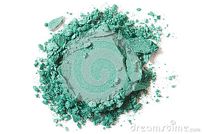 Green eye shadow crushed