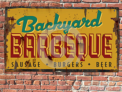 Barbeque BBQ Sign