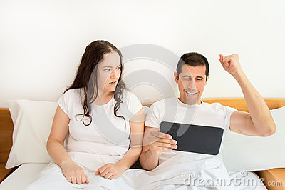 Husband wins betting and wife gets angry