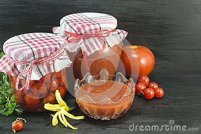 Tomato in various forms
