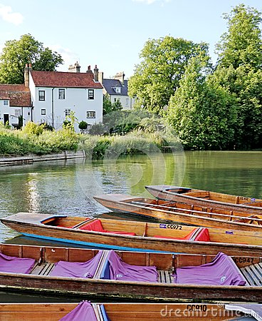 Punts On The River Cam, Cambridge, England