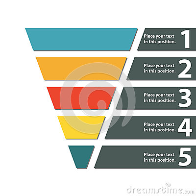 Funnel symbol. Infographic or web design element. Template for ...