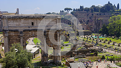 Ruins of ancient Rome, Italy