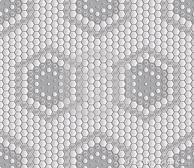 Seamless abstract tile background - hexagons. The color of the metal midtone.