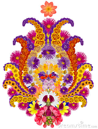 Persian  rug element -  flower of pomegranate