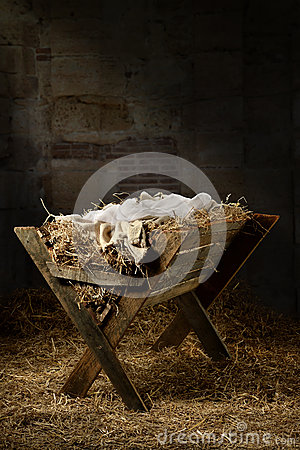 Empty Manger in Stable