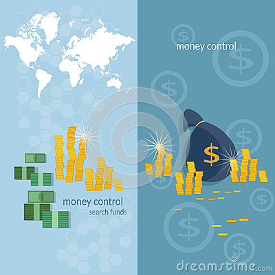 World banking money transfer world map transactions banners