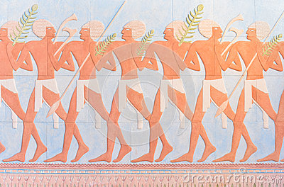 Ancient egyptian warriors wall paintings
