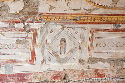 Drawings in Terrace Houses, Ephesus Ancient City
