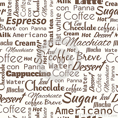 Seamless background with coffee tags.