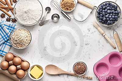 Baking Cooking White Marble Background Cake