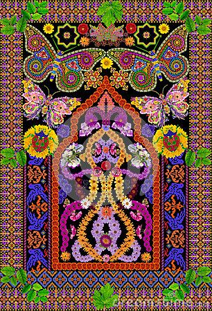 Rug for a prayer in Butterfly style