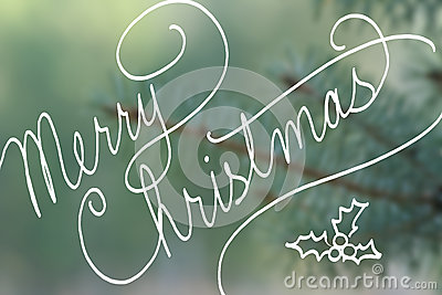 Merry Christmas In Cursive.Cursive Handwriting Typography Saying Merry Christmas On