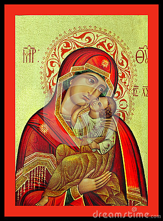 Virgin Mary and Jesus Greek Icon